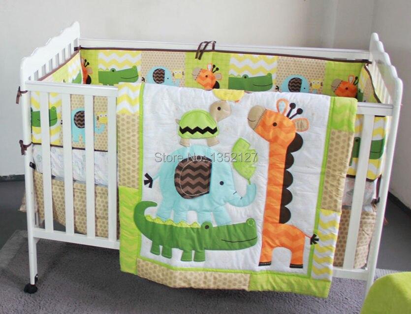 New Lovely Animals Giraffe Elephant Owl Baby Crib Bedding