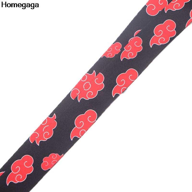 Homegaga Naruto nuvole key id cinghia film cordicelle al collo tasti occhiali holder bead portachiavi cellulari fotocamere della tessitura del nastro del D2074