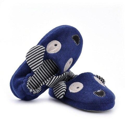 criancas indoor chinelos sapatos de bebe das meninas dos meninos dos desenhos animados cao marinha