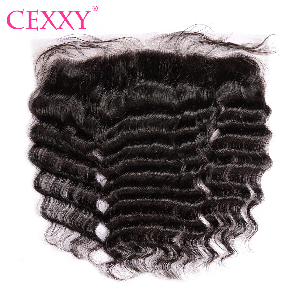 CEXXY Lace Frontal Closure Brazilian Nature Wave 13 4 Plucked Natural Hairline With Baby Hair Free