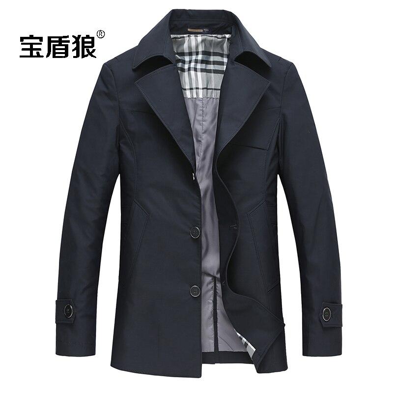 Мужская верхняя одежда& пальто новое поступление весенний хлопковый плащ-Тренч, верхняя одежда, средней длины Блейзер Большие размеры M L XL XXL 3XL 4XL 5XL 6XL 7XL 8XL