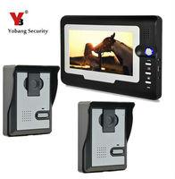 Yobang Security 7 Night Visual Video Intercom Door Phone System Door Intercom Video Doorbell with waterproof & pinhole camera