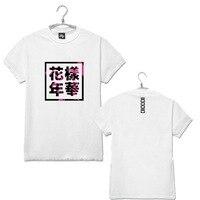 Fashion Kpop Bts Bangtan Boys Album Cover Same Letters Printing T Shirt Summer Bts Fans O