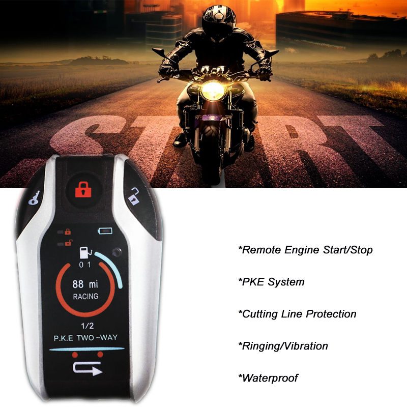 Remote Ecloud Shop Motorcycle Motorbike Scooter Security Alarm 9V
