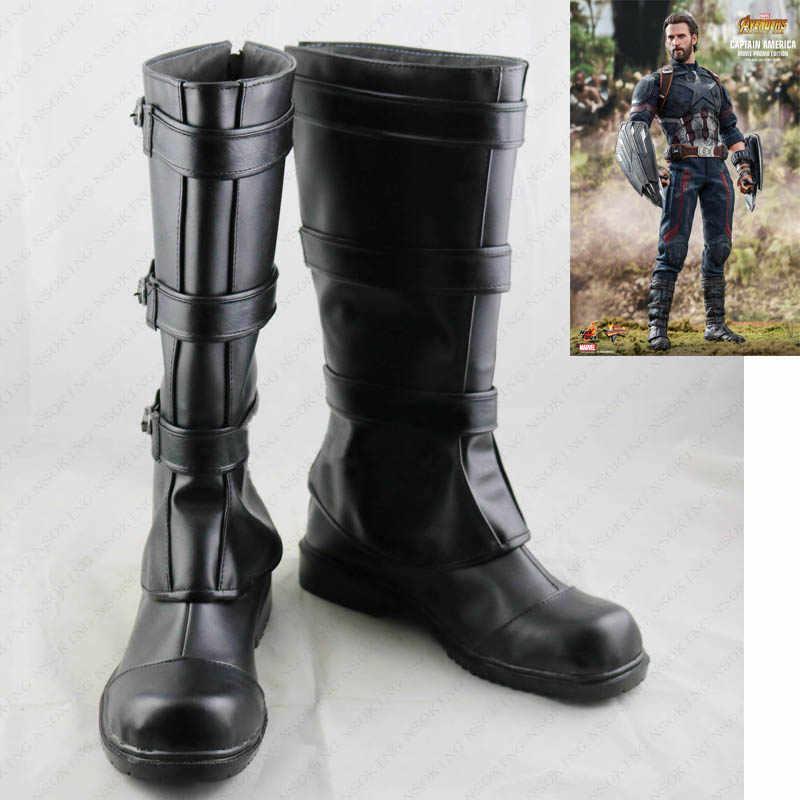 9985503393b0 New Avengers: Endgame Captain America Cosplay Boots Avengers 4 Anime Shoes  Custom Made