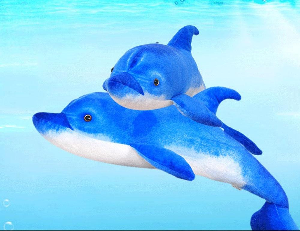 BOLAFYNIA Anak Plush Stuffed Toy Dolphin simulasi laut hewan Bayi - Boneka dan mainan lunak - Foto 2