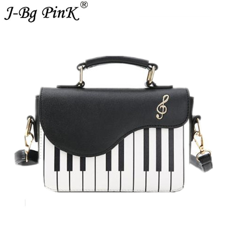 New Cute Piano Pattern Pu Leather 2018 Women's Flap Casual Ladies canta Handbag Shoulder Bag Crossbody Messenger Bag Pouch landfox 2017 metal usb 3 1 type c micro sd tf card reader otg adapter for smartphone tablet card reader dropshipping