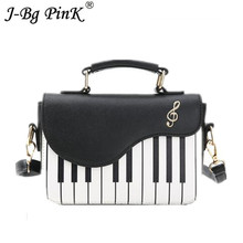 New Cute Piano Pattern Pu Leather 2018 Women's Flap Casual Ladies canta Handbag Shoulder Bag Crossbody Messenger Bag Pouch
