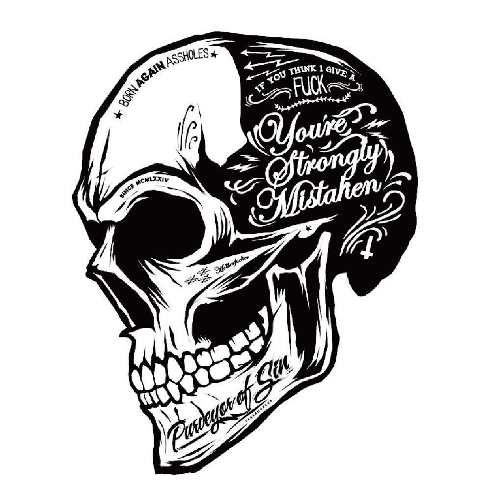 Schwarz weiß schädel aufkleber cool motorrad aufkleber moto decals helm aufkleber auf auto styling kraftstofftank fenster dekoration für vw