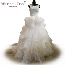VARBOO_ELSA robe de mariee tiered ruffled wedding Dress