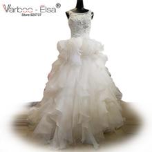 VARBOO_ELSA robe de mariee tiered ruffled wedding Dress