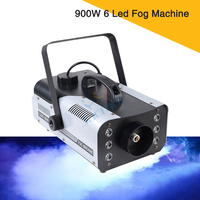 2Pcs 900W 6 Led DJ Stage Effect Machine Small Led Fog Machine Smoke Machine With Remote Control