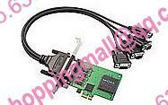 Hard cp-104ul v2 4 rs232 upci multiport serial card db25 needle