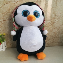 Super Large Dolls Ty Big Eyes Plush Toy Cute Christmas Penguin Doll Snowball Penguins Pillow Gifts Girls 40cm