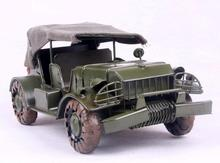 1pcs 10inch hand made metal Army Cross Country truck jeep model for desk deck