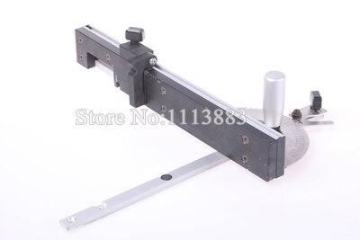 Купить с кэшбэком Miter Gauge and Box Joint Jig Kit with Adjustable Flip Stop, Brass/Aluminum Handle for you to choose