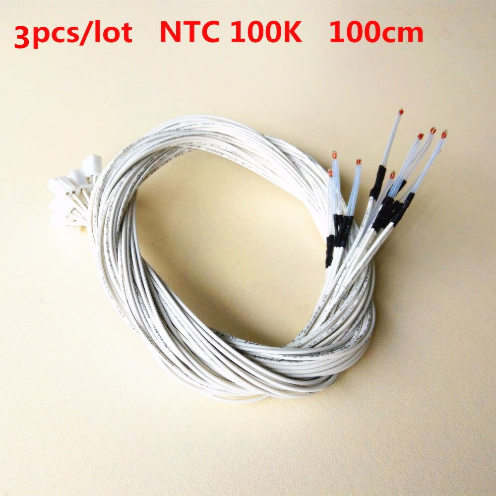 100k NTC Glass Bead 3d Printer Heater Thermistor Extruder Resistance Heated Bed Temperature Sensor Nozzle Hotend Thermistor