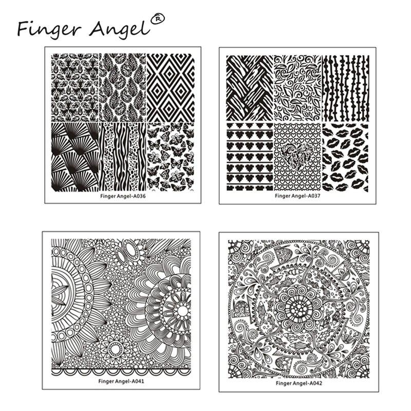 Dedo Angel 10 Pcs Placa Da Arte