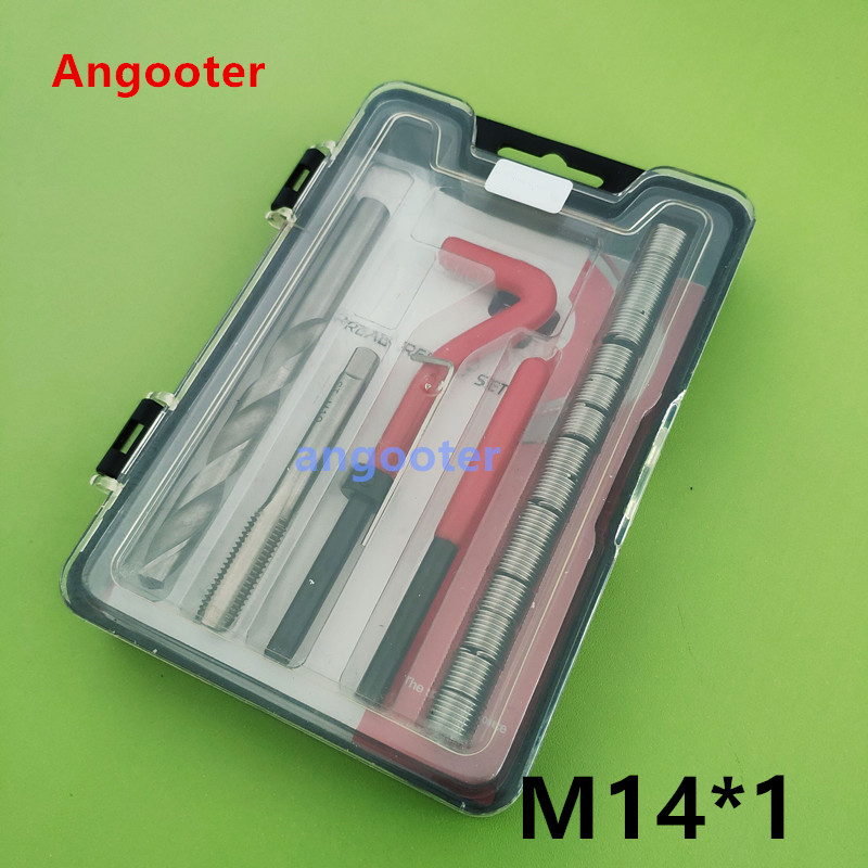 M14*1 Car Pro Coil Drill Tool Metric Thread Repair Insert Kit for Helicoil Car Repair Tools Coarse CrowbarM14*1 Car Pro Coil Drill Tool Metric Thread Repair Insert Kit for Helicoil Car Repair Tools Coarse Crowbar