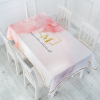 Waterproof Tablecloth Cotton Linen Table Cloth Cloth Coffee Table Cloth Rectangular Tablecloth 040