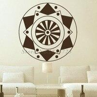 Indiano Padrão de Mandalas mais Populares Adesivos de Parede Da Arte Da Flor PVC Adesivo Autocolante Decalques de Parede Decoração Da Sua Casa