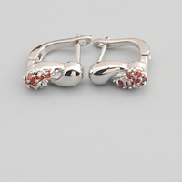 Remarkable Red Garnet 2 2mm Semi Precious Silver Cool For Womens Earrings ED0624