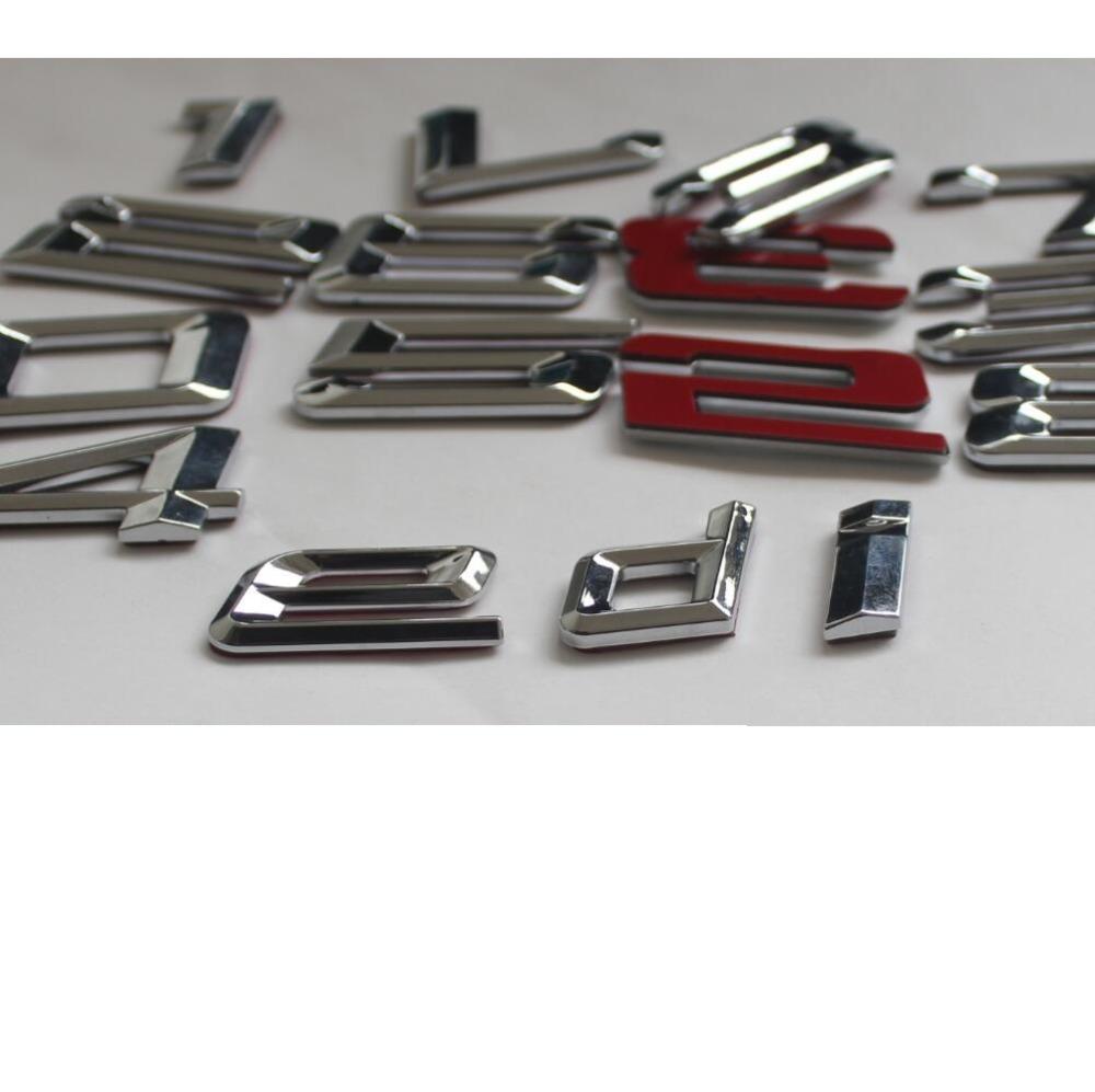 хром блестящий серебряный АБС количество букв слова багажник автомобиля эмблемы наклейка письмо стикеры для БМВ 7 серии 735li