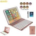Kemile Für iPad Pro 9,7 Dünne Tastatur Fall 7 Farben LED Backlit Bluetooth Tastatur Abdeckung Dünne Aluminium Legierung Fall für iPad air2