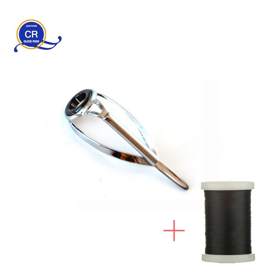 10pcs/Kit SIC CR Top Guide Bracket Anti-winding Enhanced Version Rod  Ring Refit Repair Guide Replacement Fishing Rod Accessory