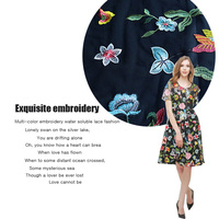 The new 2016 heavy water soluble lace lace fabric net yarn three dimensional embroidered dress fabric clothing imports