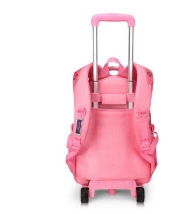 Szkoły toczenia plecaki dla dziewcząt plecak na kółkach wózek plecaki szkolne dla dzieci torba na bagaż koła dla dzieci wózek plecak w Torby szkolne od Bagaże i torby na  Grupa 3
