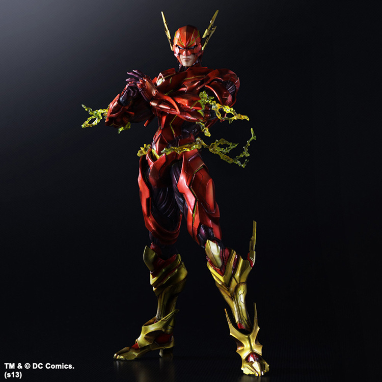 Play Arts the Flash DC Super Hero 25cm Model Action Figure Toys metal gear solid v the phantom pain play arts flaming man action figure super hero