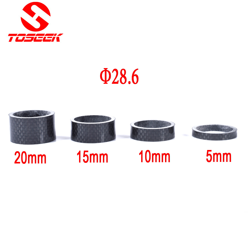 "3K Full Carbon Fiber Bicycle Fork Washer Spacer MTB Road Moutain Bike Fork Headset Washer Spacer 1 1/8"" 5/10/15/20mm"