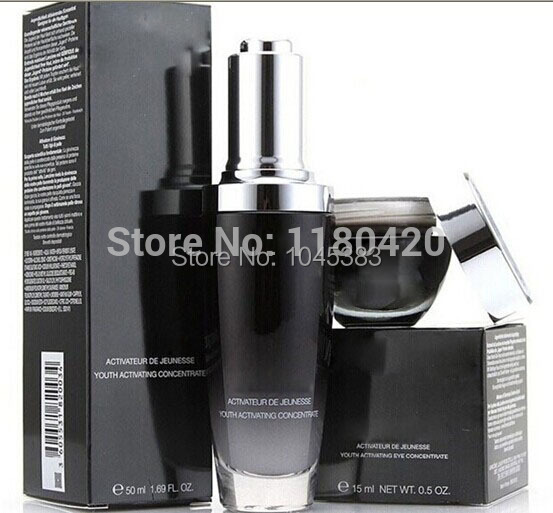 Skin Care new Black bottle 15ml eye cream+face Cream 50ml liquid muscle end anti-wrinkle - Happy Shopping Store168 store
