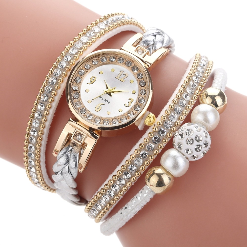 Dropshipping High Quality Beautiful Fashion Women Bracelet Watch Ladies Watch Casual Round Analog Quartz Wrist Bracelet Watch