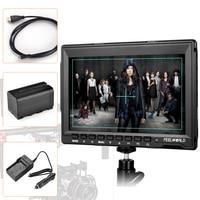Feelworld FW759 7 DSLR Camera Monitor HD IPS 1280x800 Field LCD Monitor HDMI Input W Battery