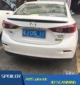 For Mazda 3 Axela SpoilerABS Material Car Rear Wing Primer Color Rear Spoiler Press the tail For Mazda 3 Axela Spoiler 2014-2015