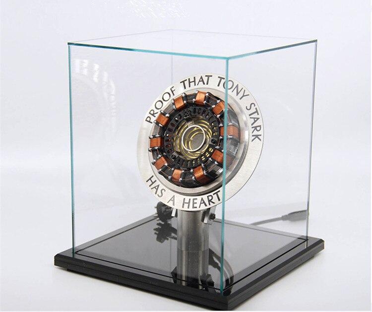 Échelle 1:1 Iron Man Arc Reactor UNE génération de rougeoyant iron man coeur modèle avec Led Action Figure Fini assemblé cadeau