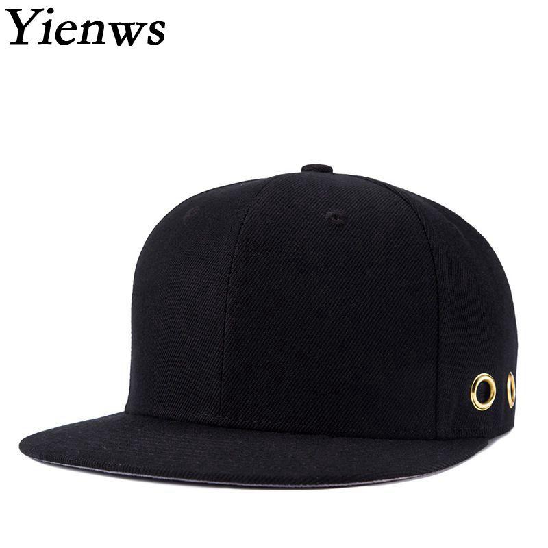 Yienws Hat Baseball Bones Full-Cap Kpop Snapback Hip-Hop-Hats Man 7 YIC047 Hoops Gorras