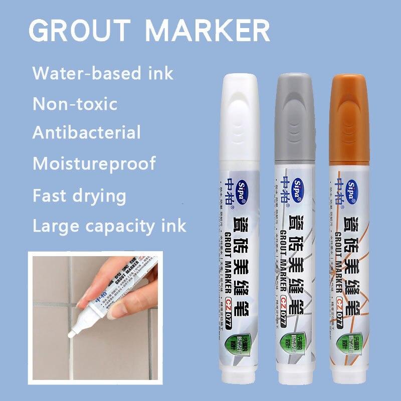 1pcs Grout Pen & Marker pen Grout-Aide & Ceramic Tile Gap Repair Pen Mending Concealer Light Color Paint Fast drying Non-toxic 2 pcs ceramic ceramic adhesive agent beautiful seam tile grout repair agent grout grout
