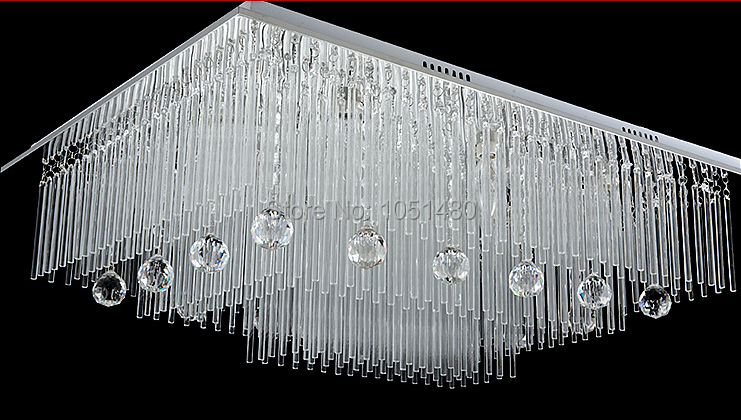 New modern square crystal lamp remote control chandelier living led new modern square crystal lamp remote control chandelier living led lighting in chandeliers from lights lighting on aliexpress alibaba group aloadofball Images