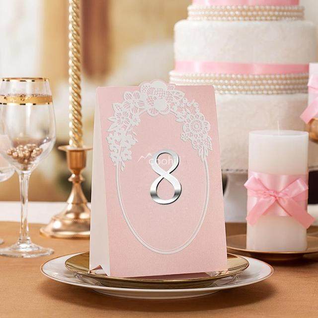 5 X Wedding Table Numbers Number Cards Baby Shower Decors Decorations Party