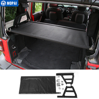 MOPAI Metal+Cloth Car Interior Decoration Trunk Rack Luggage Carrier Holder For Jeep Wrangler 2007 Up Car Styling