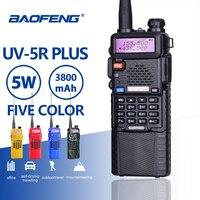 Baofeng UV 5R 5W 3800mAh 7.4V Battery Walkie Talkie UV 5R Portable UHF VHF 136 174MHz 400 520MHz Two Way Radio Ham PTT CB Radio