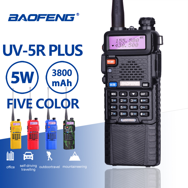 Baofeng UV-5R 5 W 3800 mAh 7.4 V batterie talkie-walkie UV 5R Portable UHF VHF 136-174 MHz 400-520 MHz Radio bidirectionnelle Ham PTT CB RadioBaofeng UV-5R 5 W 3800 mAh 7.4 V batterie talkie-walkie UV 5R Portable UHF VHF 136-174 MHz 400-520 MHz Radio bidirectionnelle Ham PTT CB Radio