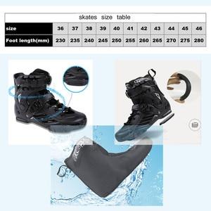 Image 5 - JK RS6 prędkości łyżworolki łyżwy profesjonalne buty do jazdy na rolkach dla dorosłych 3 lub 4*110mm koła Patines FSK Rollerblade SH55
