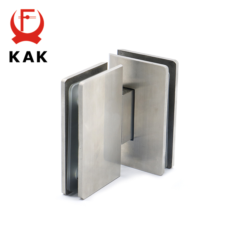 KAK-4904 180 Degree Hinge Open 304 Stainless Steel Wall Mount Glass Shower Door Hinges For Home Bathroom Furniture Hardware 4pcs naierdi c serie hinge stainless steel door hydraulic hinges damper buffer soft close for cabinet kitchen furniture hardware