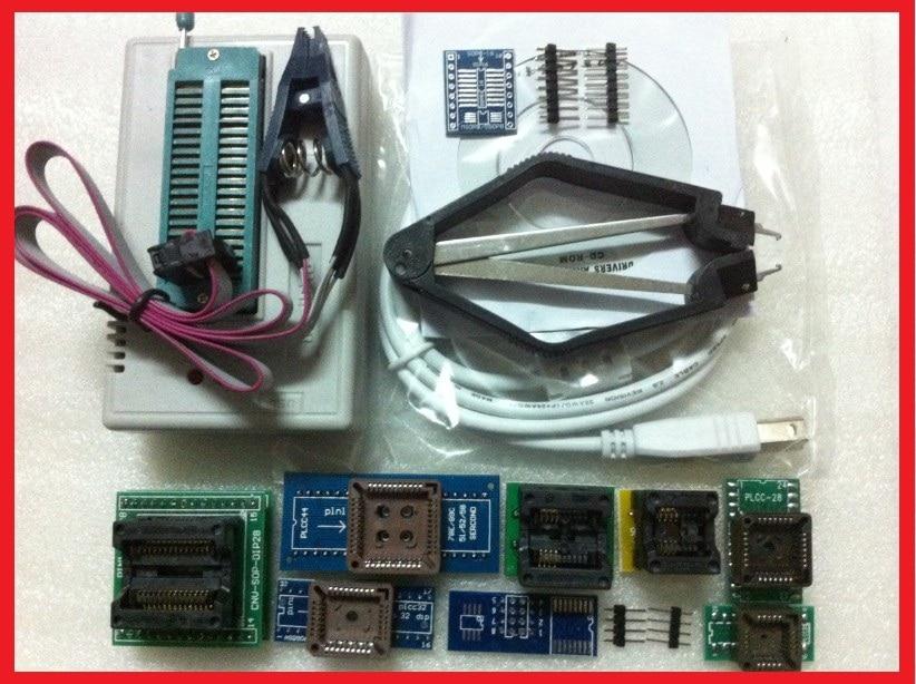 Free Shipping XGECU V8.05 MiniPro TL866CS TL866A TL866II Plus USB Universal Bios Programmer+10items+SOIC8 clip цены