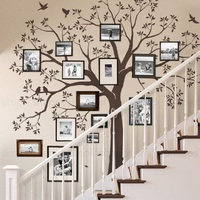 New Large Nursery Frame Tree Birds Wall Stickers Tree Decals Poster Mural Children Sticker for Kids Room Decoration Home Decor