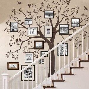 Vinilo marco vinilos decorativos de pared de árbol pegatinas de escalera decoración cartel removible Mural Calcomanía para niños para la habitación de los niños decoración del hogar